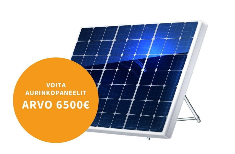 Voita aurinkopaneelit omakotitaloon - Osallistu arvontaan